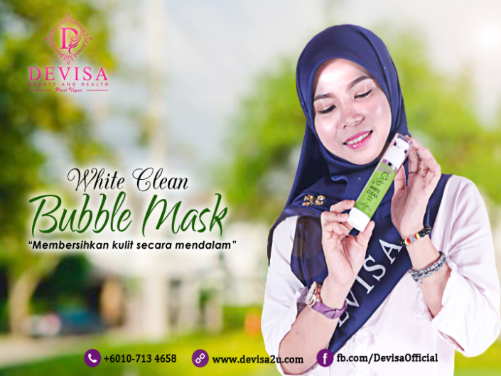 White Clean Bubble Mask